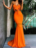 Sweetheart Two Pieces Mermaid Sexy Long Prom Dresses MD309