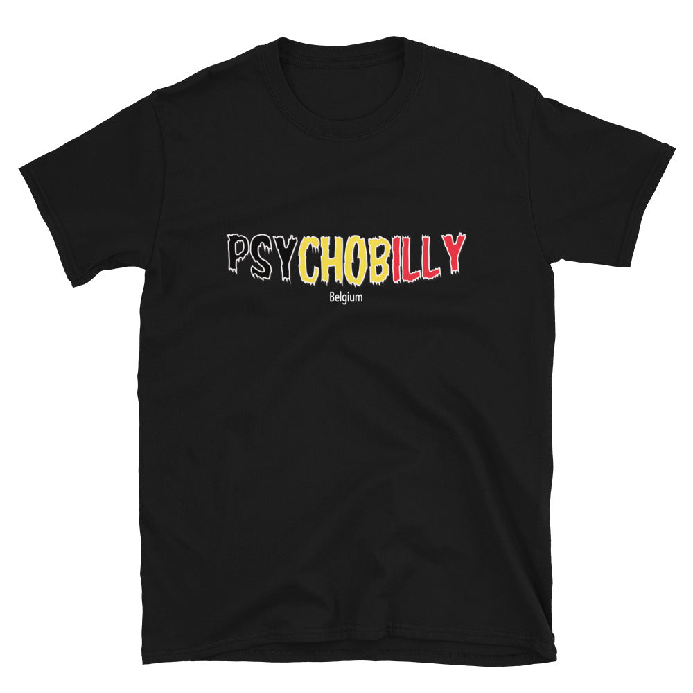 Psychobilly Belgium Short-Sleeve Unisex T-Shirt