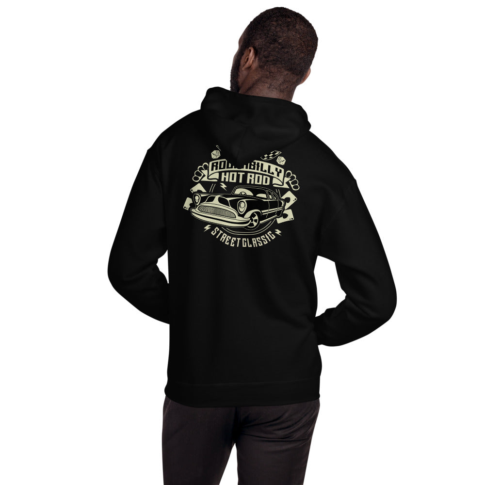 Rockabilly Hotrod -backprint Unisex Hoodie - The Wrecking Pit | Psychobilly Clothing | Psychobilly Bands