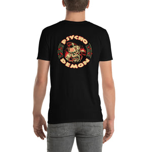 Psycho Demon - Backprint only - Short-Sleeve Unisex T-Shirt - The Wrecking Pit | Psychobilly Clothing | Psychobilly Bands