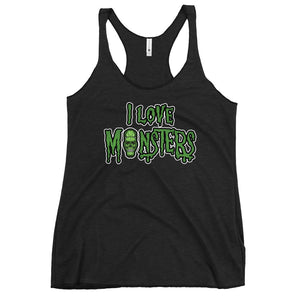 I love Monsters - Women's Racerback Tank