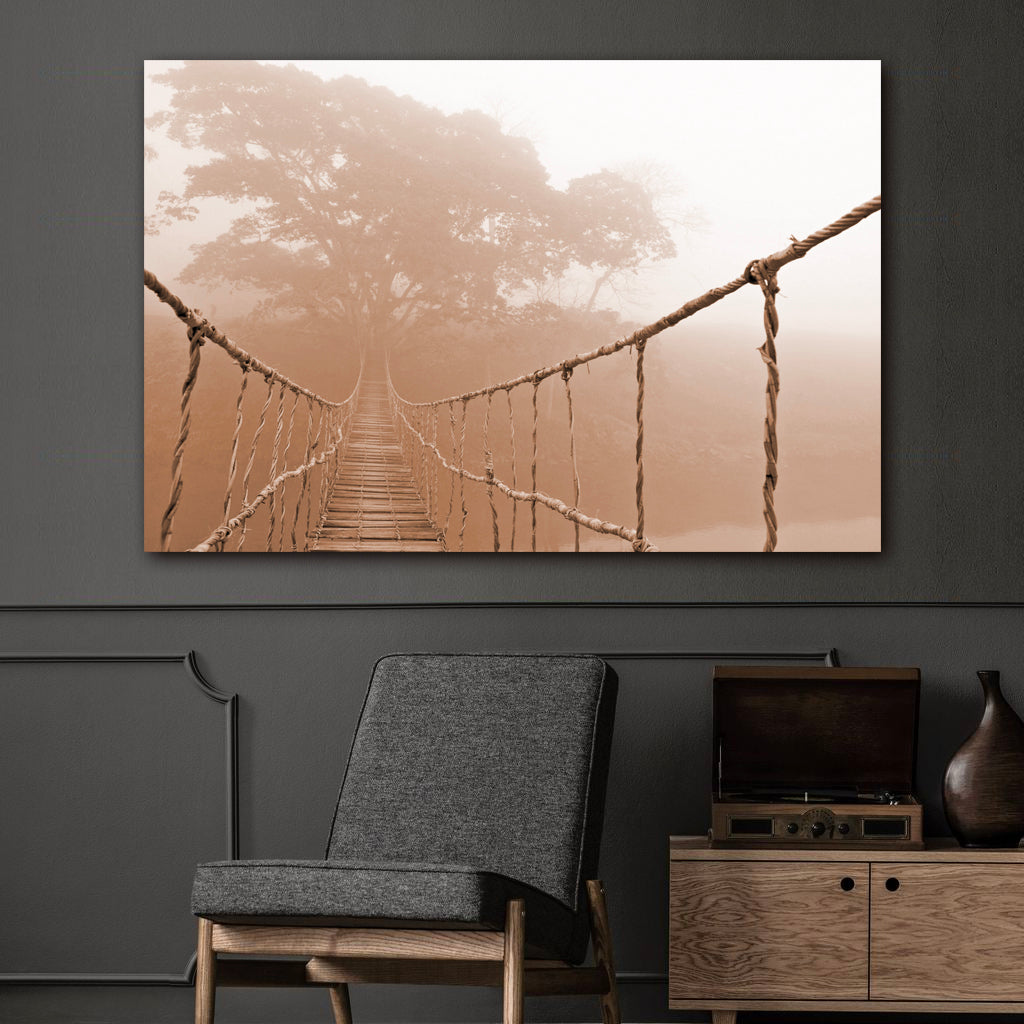 Tablou Canvas - Jungle Bridge - Tablomag