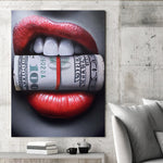 Tablou Canvas - Money In Lips - Tablomag