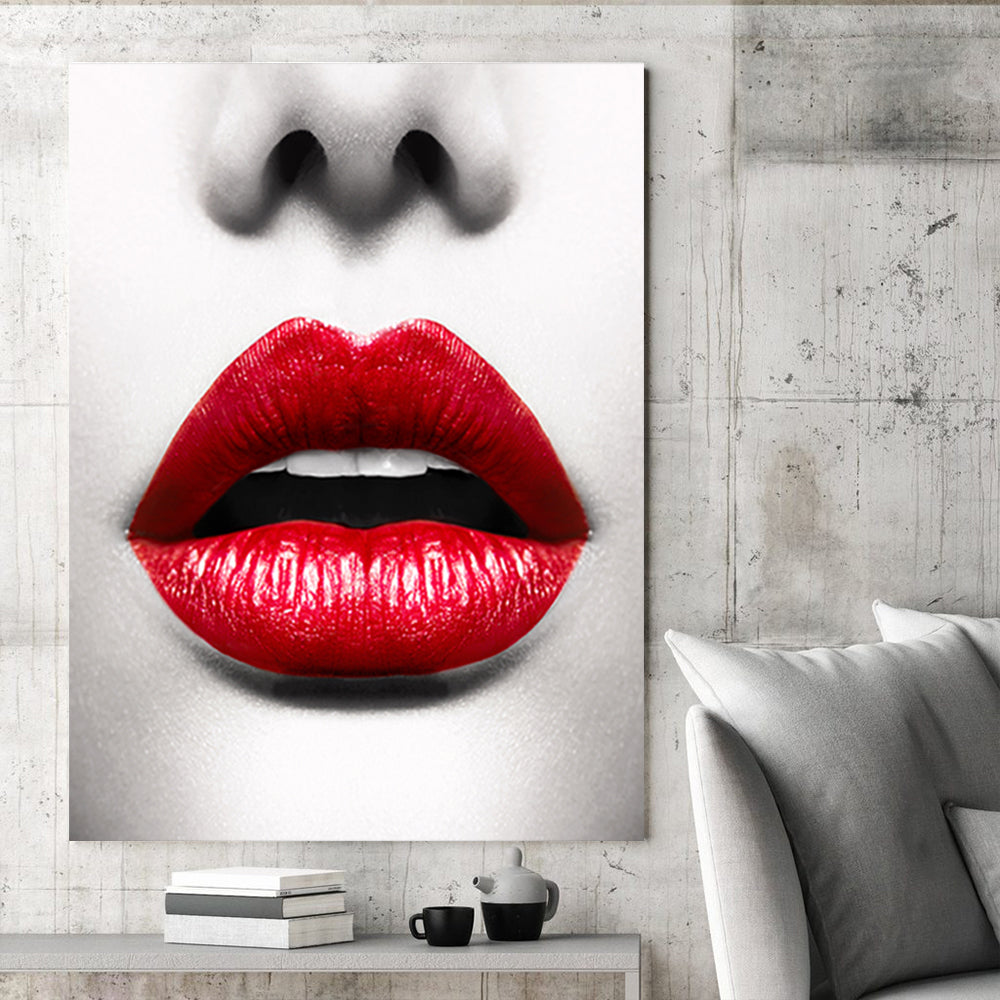 Tablou Canvas - Red Lips - Tablomag