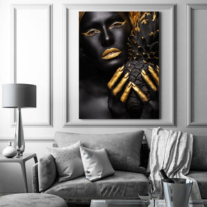 Tablou Canvas - [One Time Deal] Gold Pineapple - Tablomag