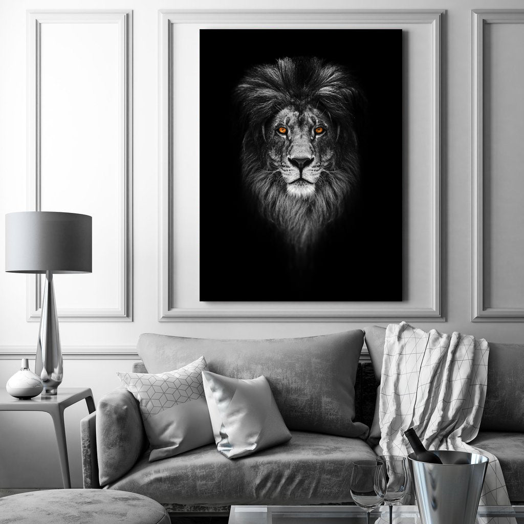 Tablou Canvas - Gold Lion - Tablomag