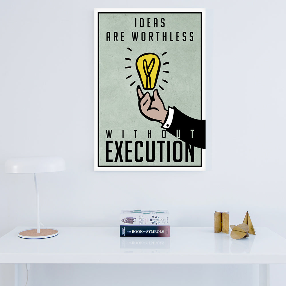 Tablou Canvas - Ideas Are Worthless - Tablomag