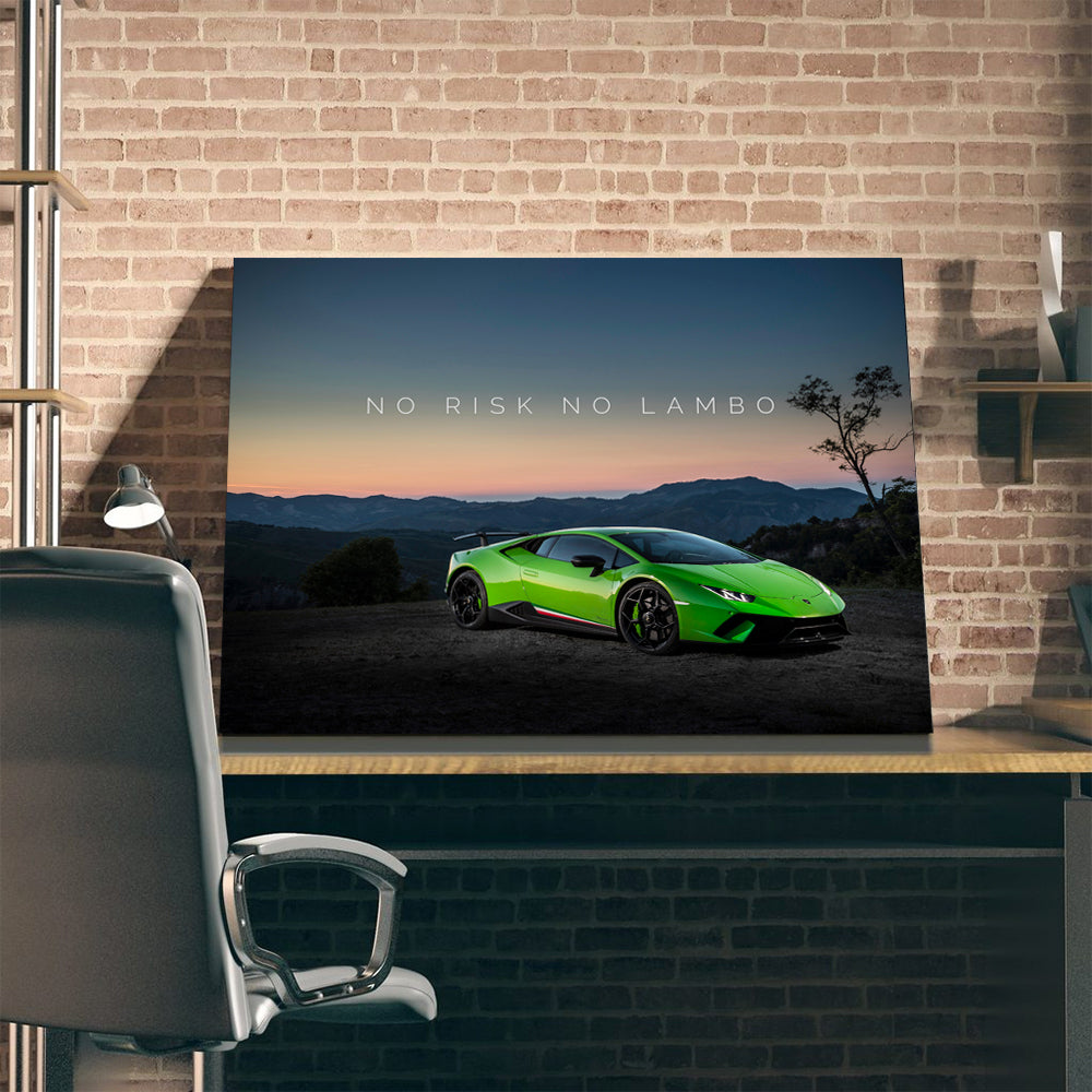 Tablou Canvas - No Risk No Lambo - Tablomag
