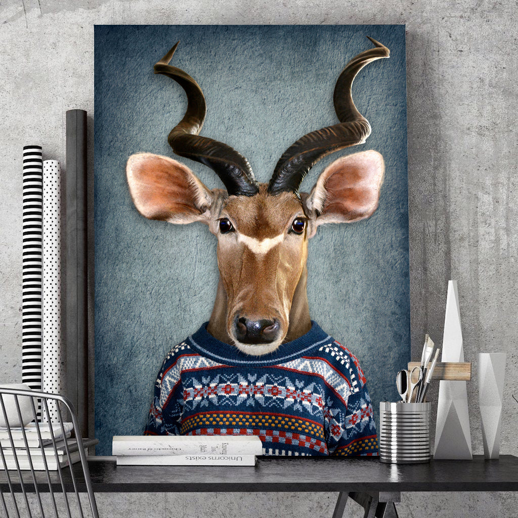 Tablou Canvas - Reindeer Casual - Tablomag