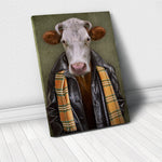 Tablou Canvas - Grunge Cow - Tablomag
