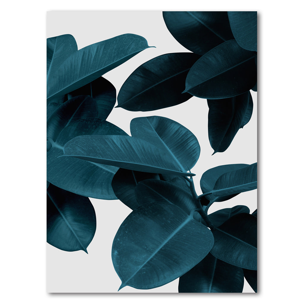 Tablou Canvas - Blue Leaves - Tablomag