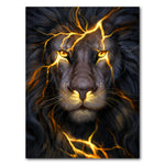 Tablou Canvas - [One Time Deal] Fire Lion - Tablomag