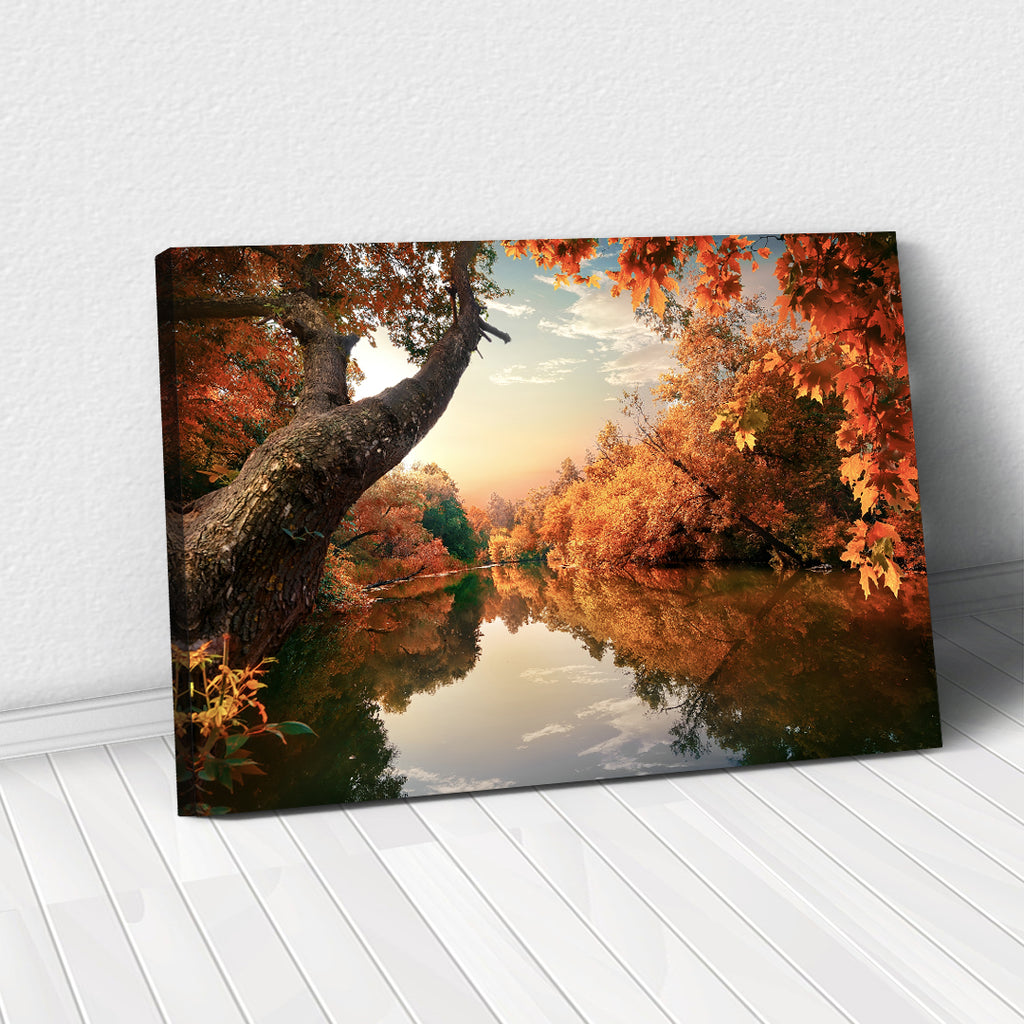 Tablou Canvas - Calm River in the Autumn - Tablomag