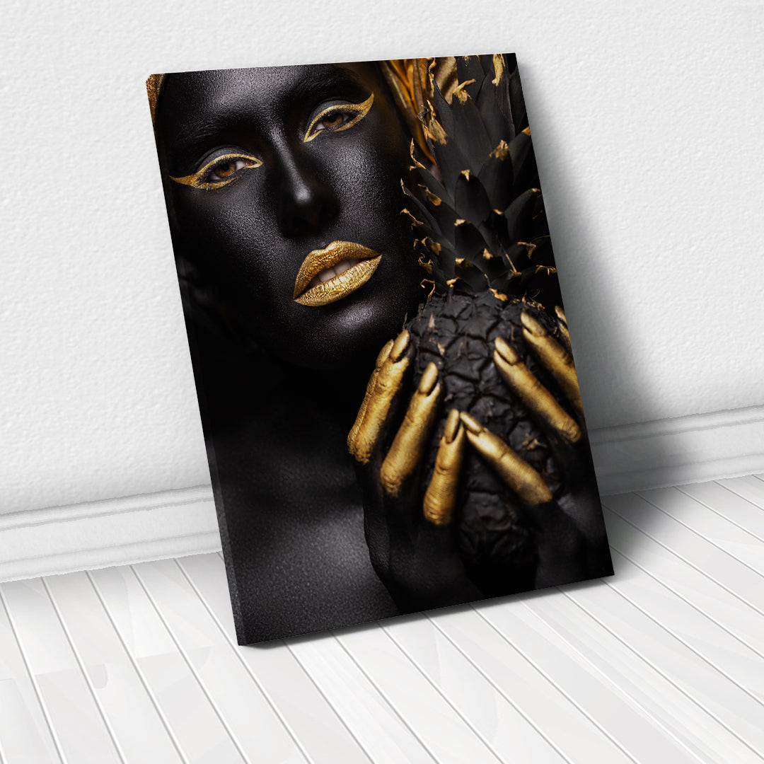 Tablou Canvas - Gold Pineapple - Tablomag