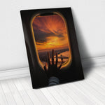 Tablou Canvas - Airplane Sunset - Tablomag