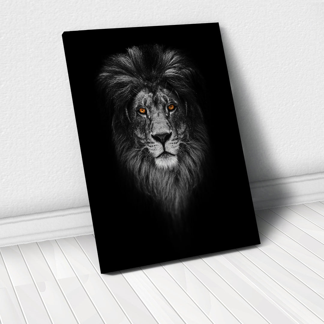 Tablou Canvas - [One Time Deal] Gold Lion - Tablomag
