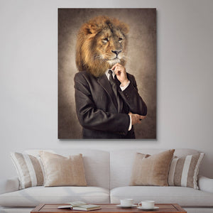 Tablou Canvas - [One Time Deal] Classic Lion - Tablomag