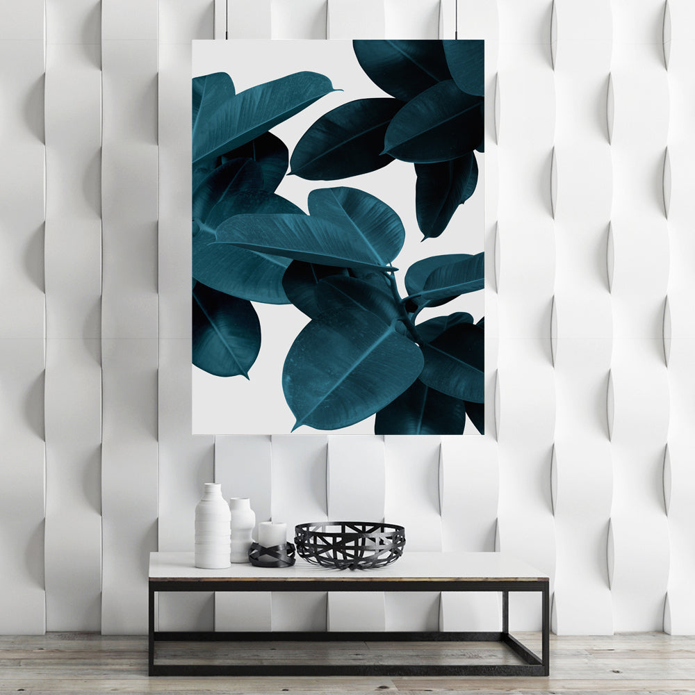 Tablou Canvas - [One Time Deal] Blue Leaves - Tablomag