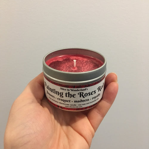 Painting the Roses Red Candle
