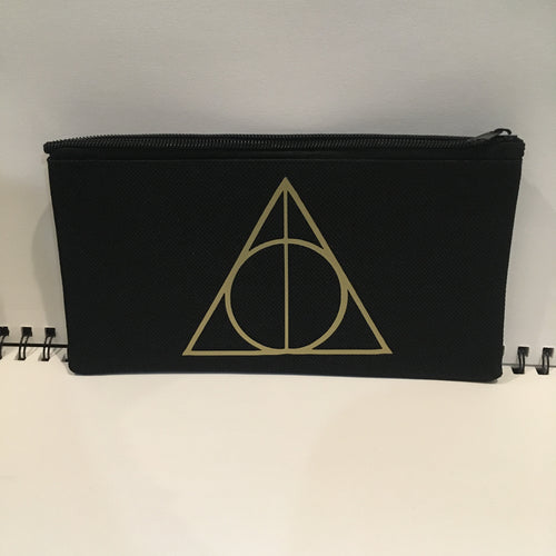 Gold Deathly Hallows Pouch