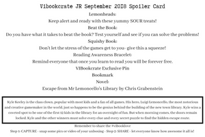 VIBookcrate Jr September 2018 Box - Challenge Accepted LAST ONE