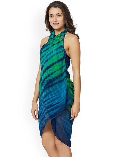 Blue & Green Dyed Sarong