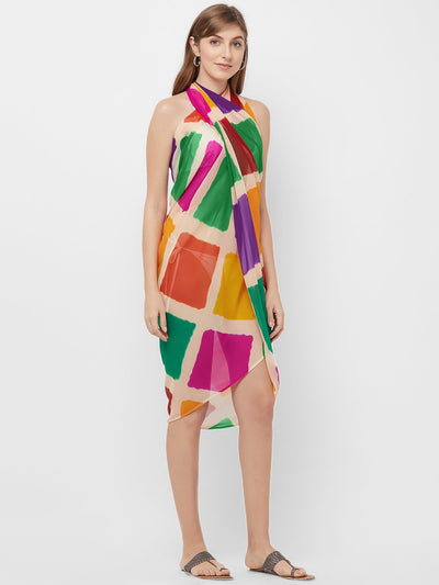 Multi-Coloured Wrap Sarong
