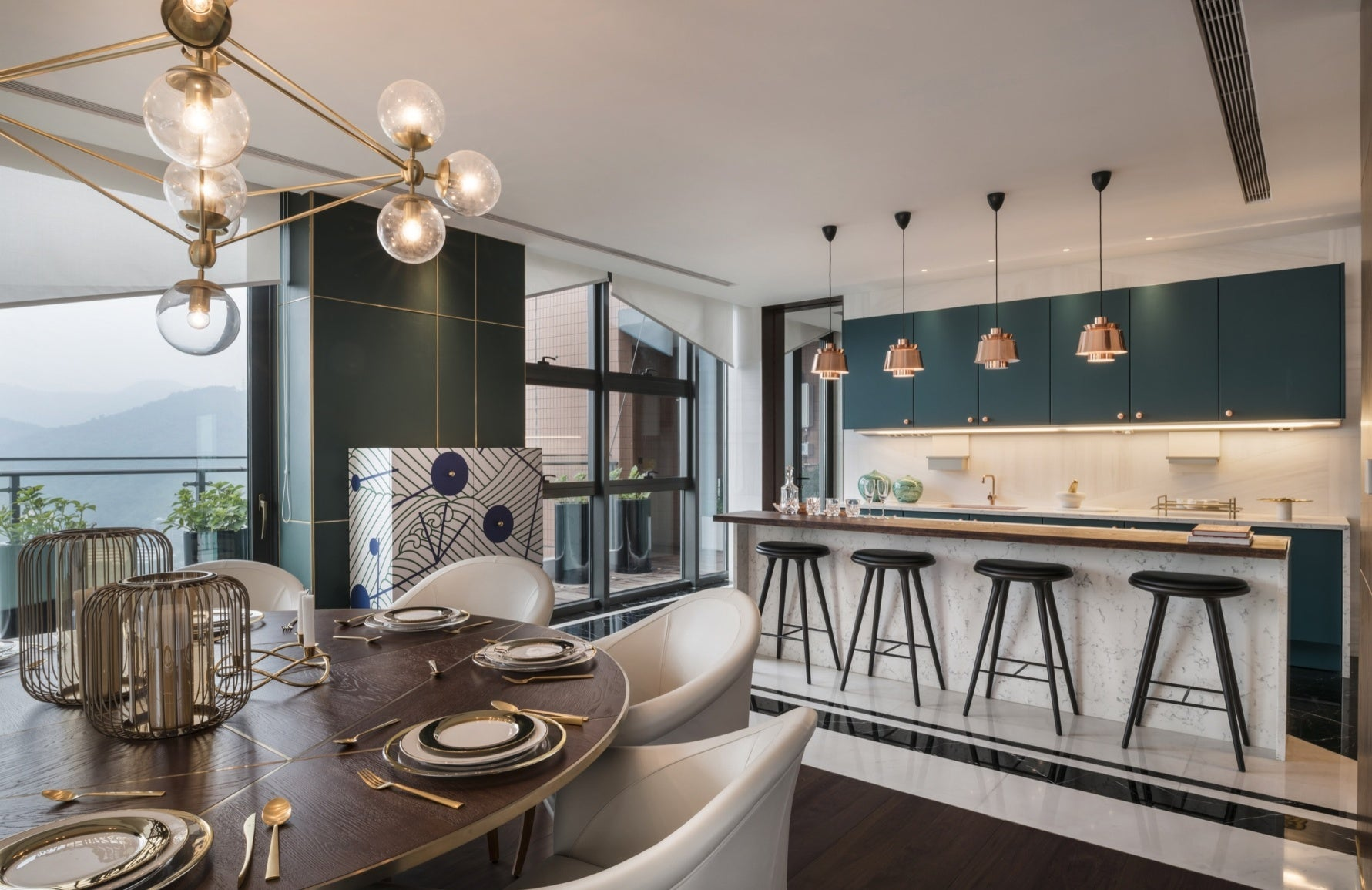Green Dining Room – Dining Room Colour Palettes - Dining Room Colour Schemes & Colour Combination ideas - Read in the LuxDeco.com Style Guide