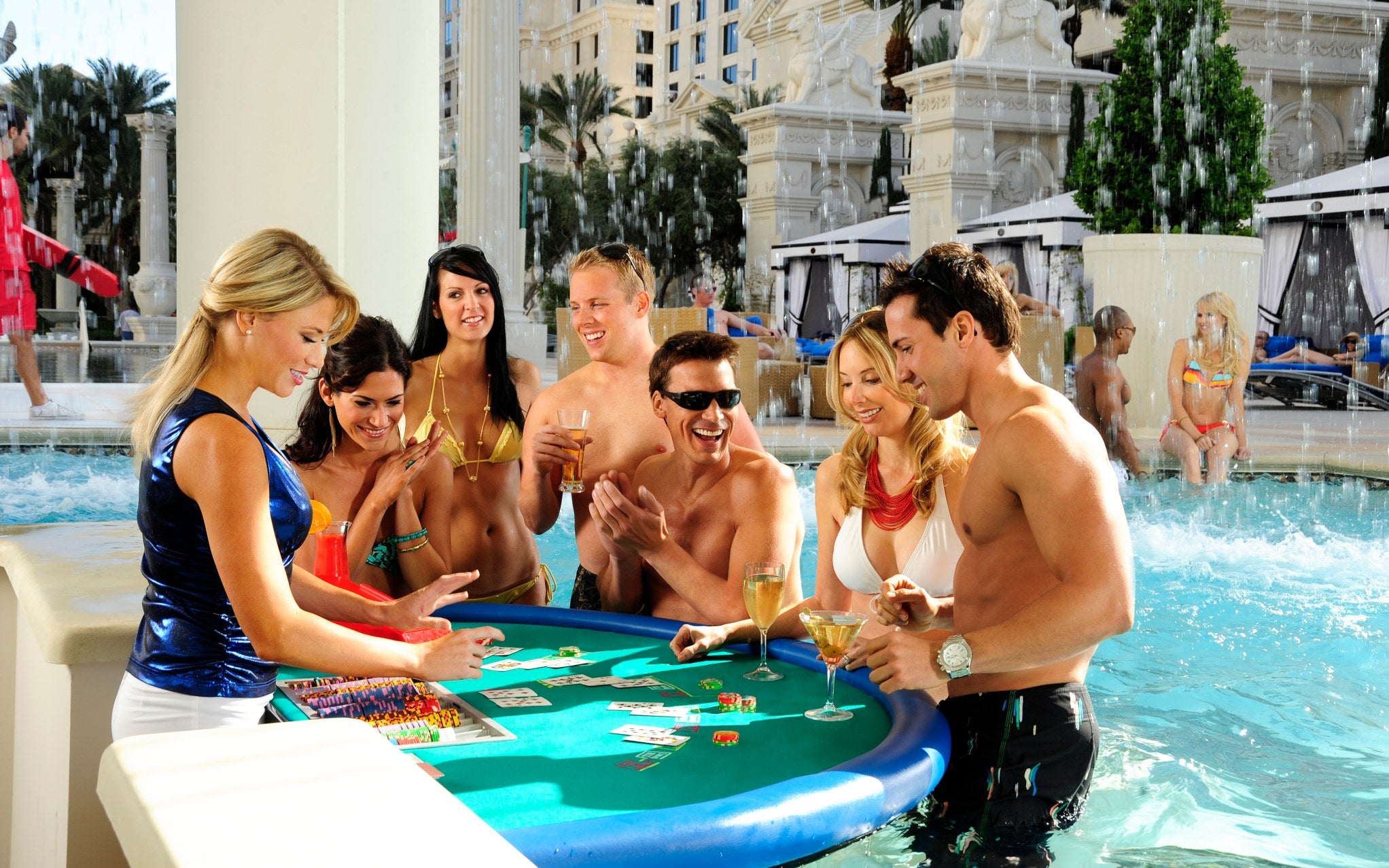 10 Best Hotel Swimming Pools Around The World - Caesars Palace, Las Vegas - LuxDeco.com Style Guide