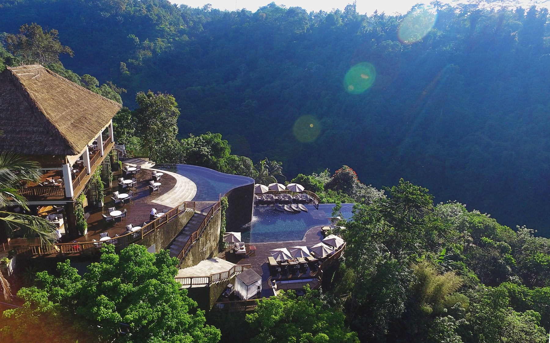 10 Best Hotel Swimming Pools Around The World - Hanging Gardens of Bali - LuxDeco.com Style Guide