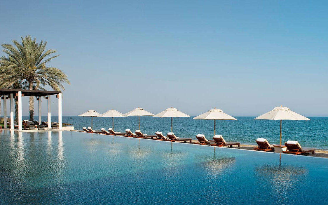 10 Best Hotel Swimming Pools Around The World - The Chedi Muscat, Oman - LuxDeco.com Style Guide