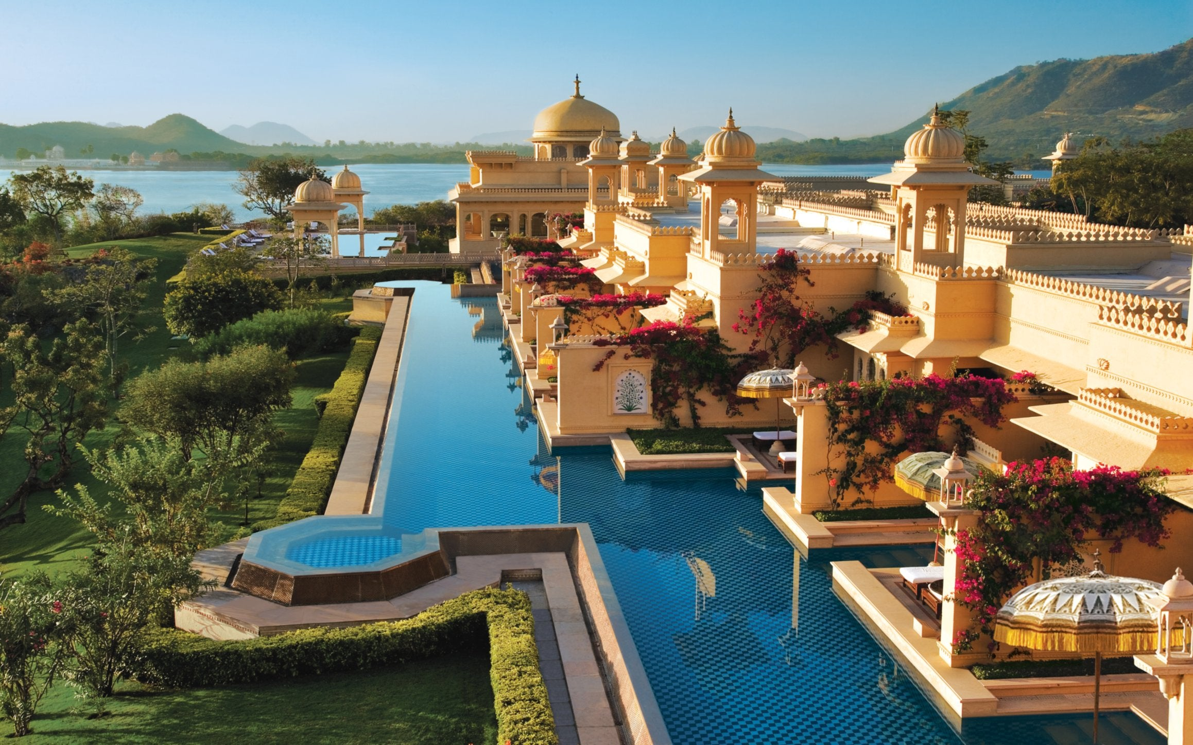 10 Best Hotel Swimming Pools Around The World - The Oberoi Udaivilas - LuxDeco.com Style Guide