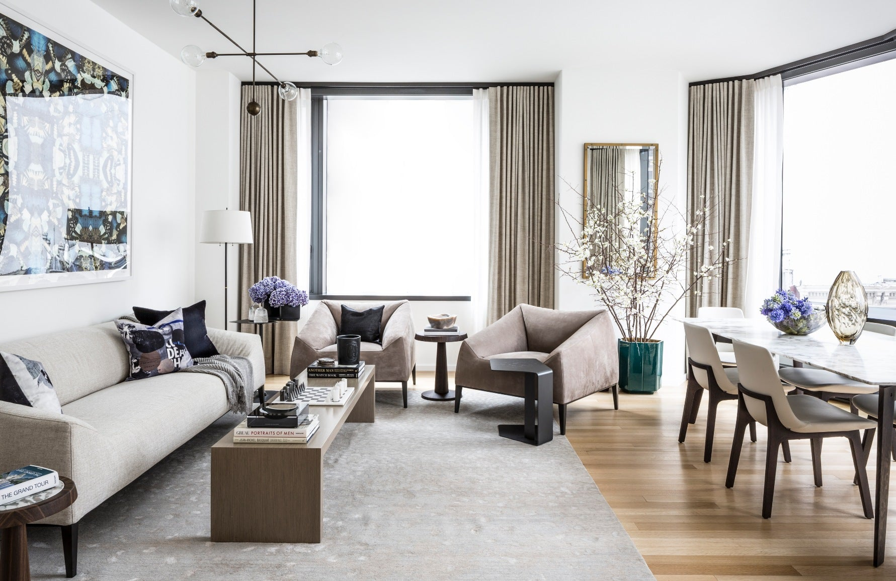 White Living Rooms | Bennett Leifer |Read more in the LuxDeco Style Guide