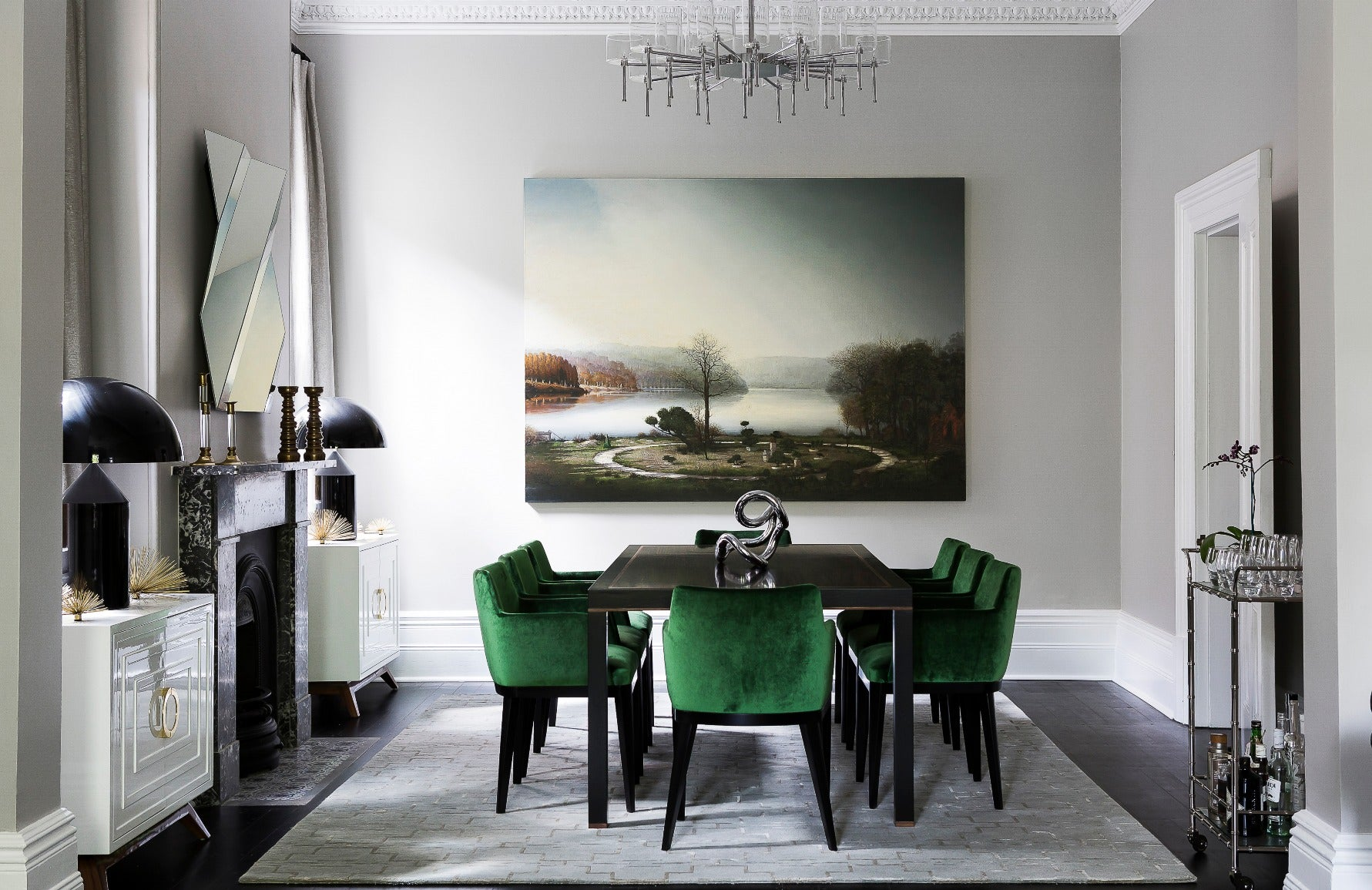 Green and Grey Dining Room – Dining Room Colour Palettes - Dining Room Colour Schemes & Colour Combination ideas – Read in the LuxDeco.com Style Guide