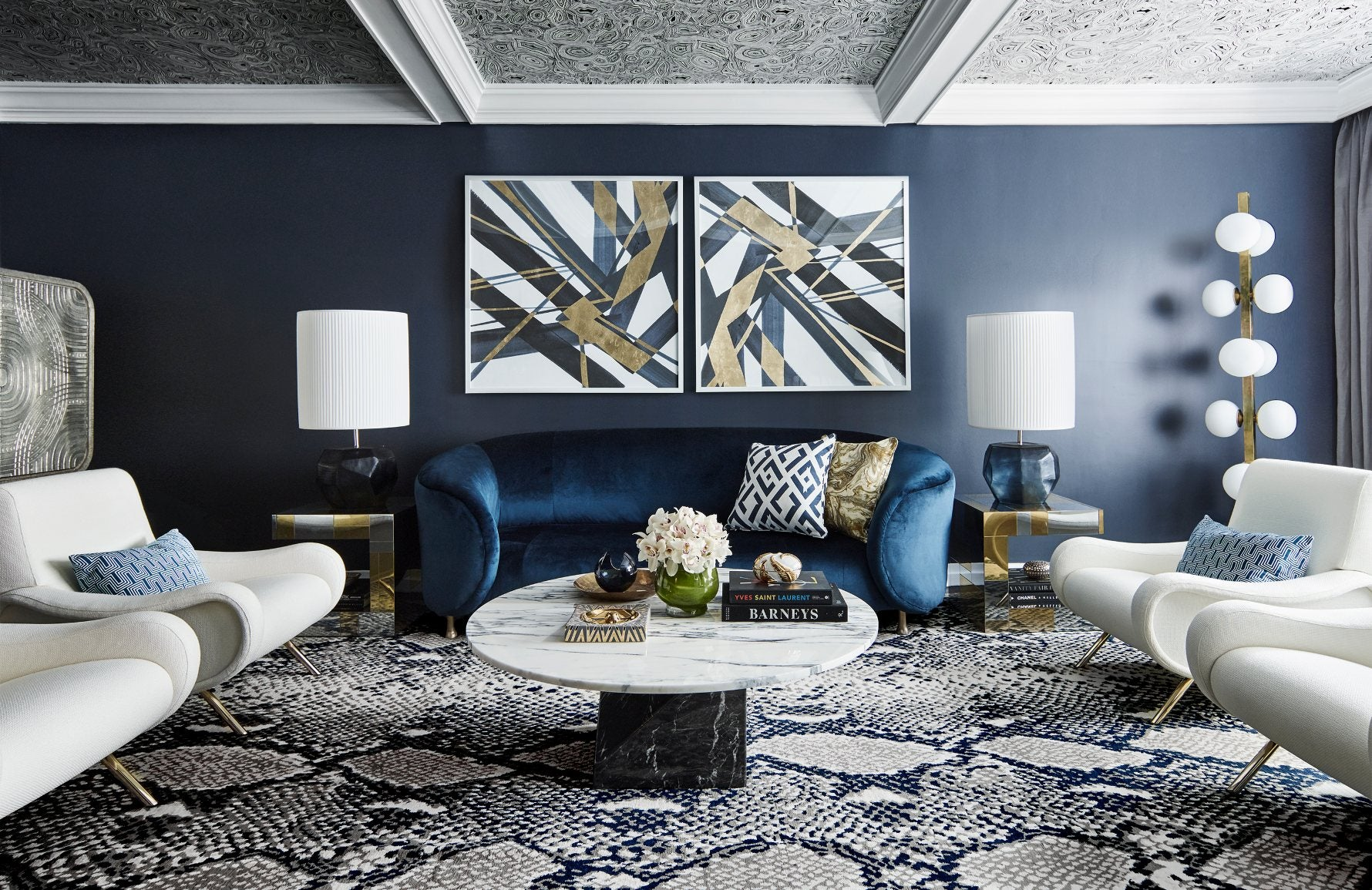 8 Incredible Blue Living Room Colour Scheme Ideas  LuxDeco