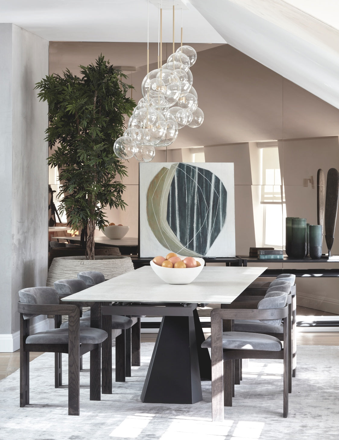 Neutral Dining Room – Dining Room Colour Palettes - Dining Room Colour Schemes & Colour Combination ideas – Read in the LuxDeco.com Style Guide