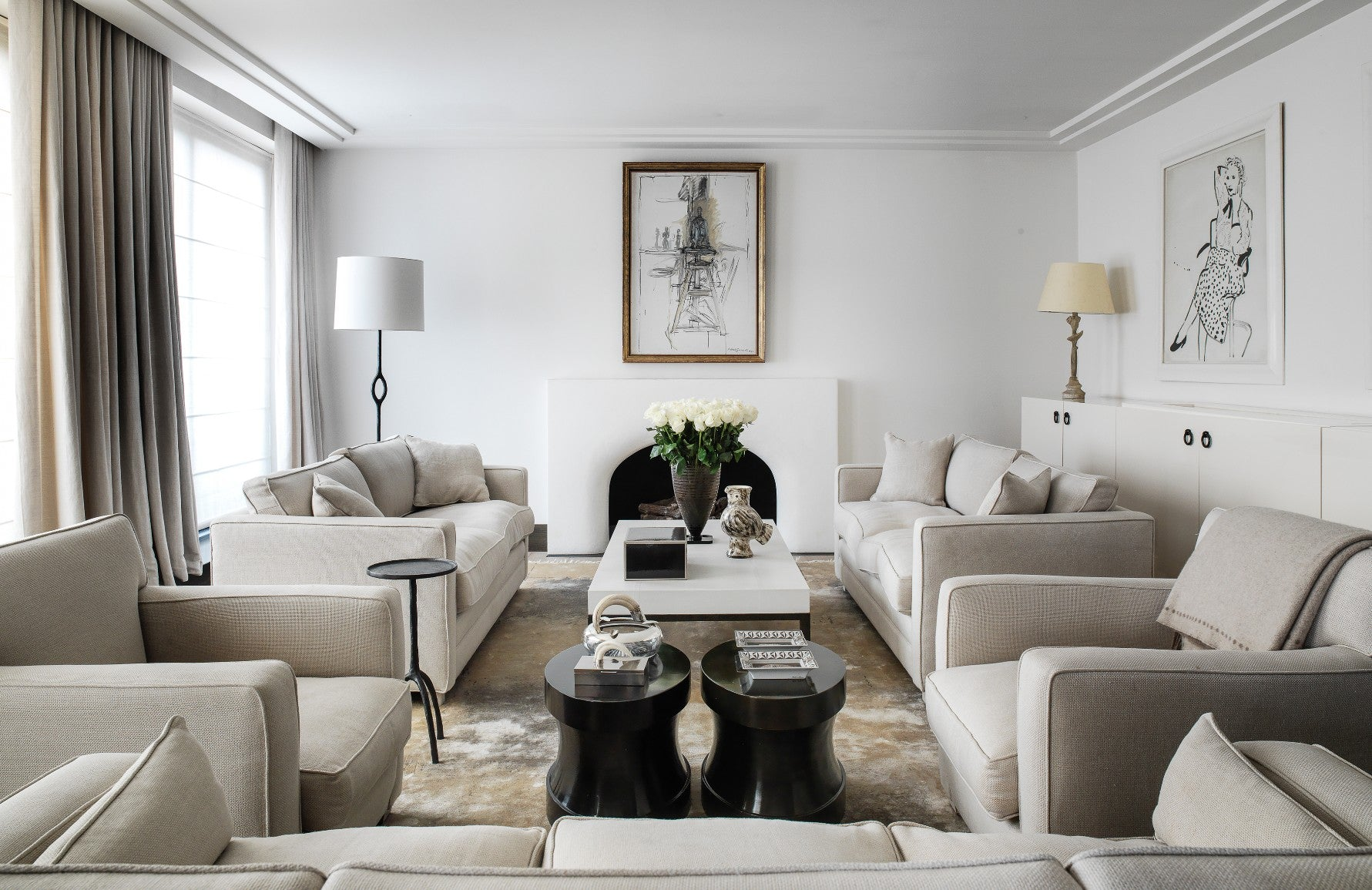 Neutral Living Room – Gilles & Boissier –  LuxDeco.com Style Guide
