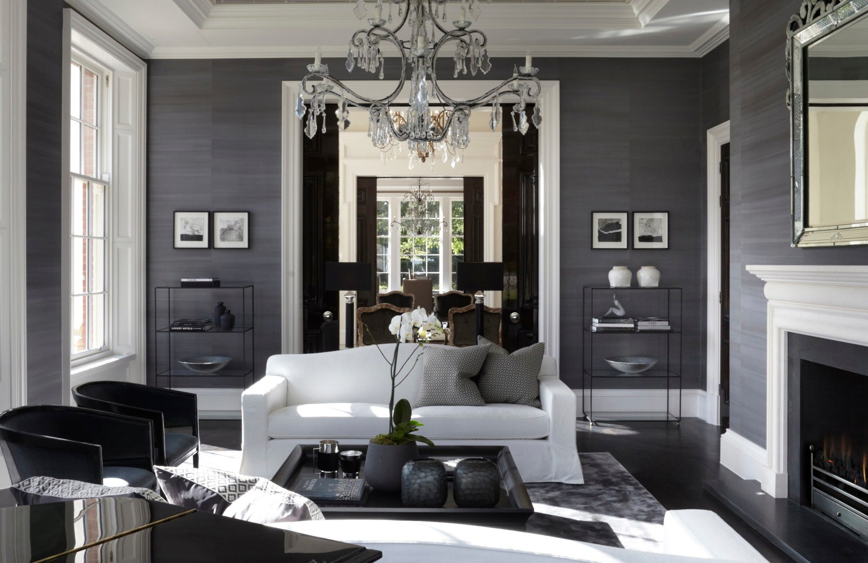 White and Grey Living Room | 15 Grey Living Room Ideas | Grey Lounge Colour Schemes | Louise Bradley Interior Design | Read more in the LuxDeco Style Guide