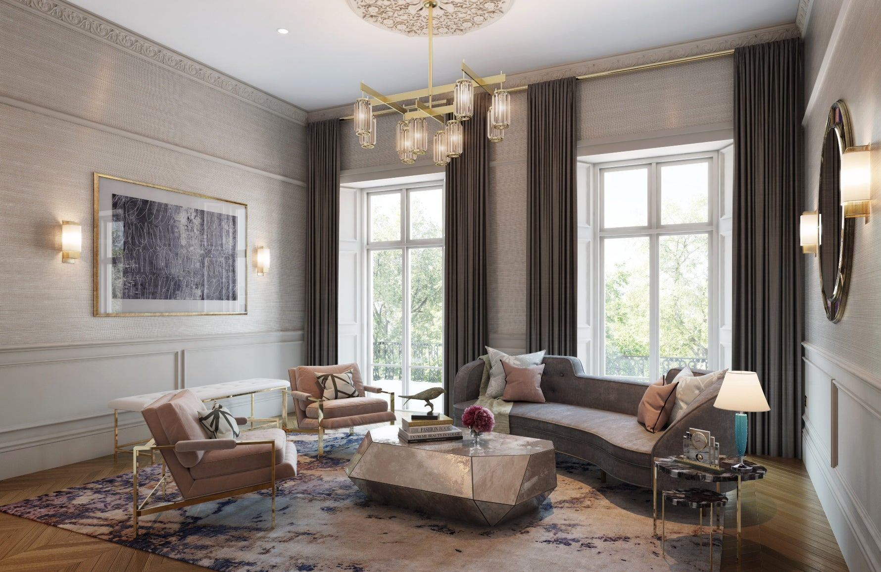 Dark Grey Living Room | 15 Grey Living Room Ideas | Grey Lounge Colour Schemes | Studio L | Read more in the LuxDeco Style Guide