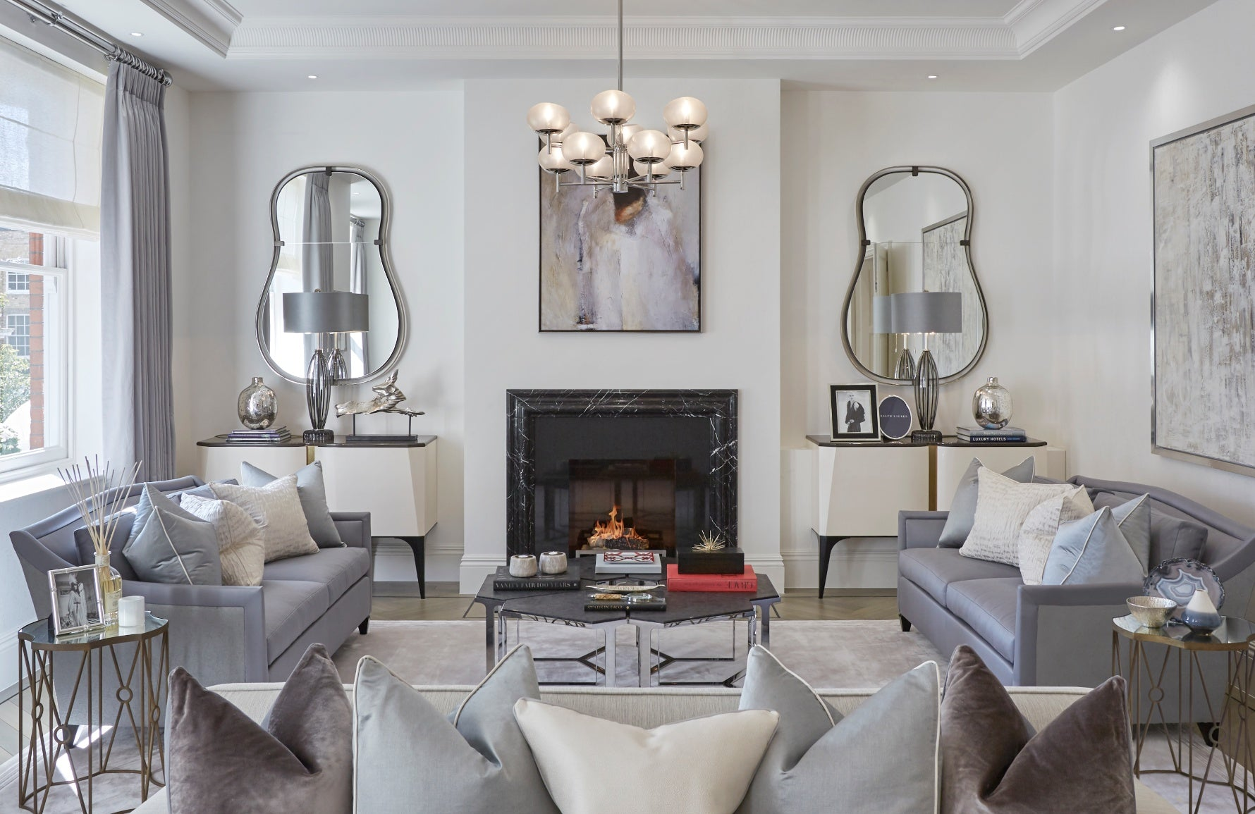 15 Grey Living Room Ideas | Grey Lounge Colour Schemes | Interior by Katharine Pooley | Discover more in the LuxDeco Style Guide