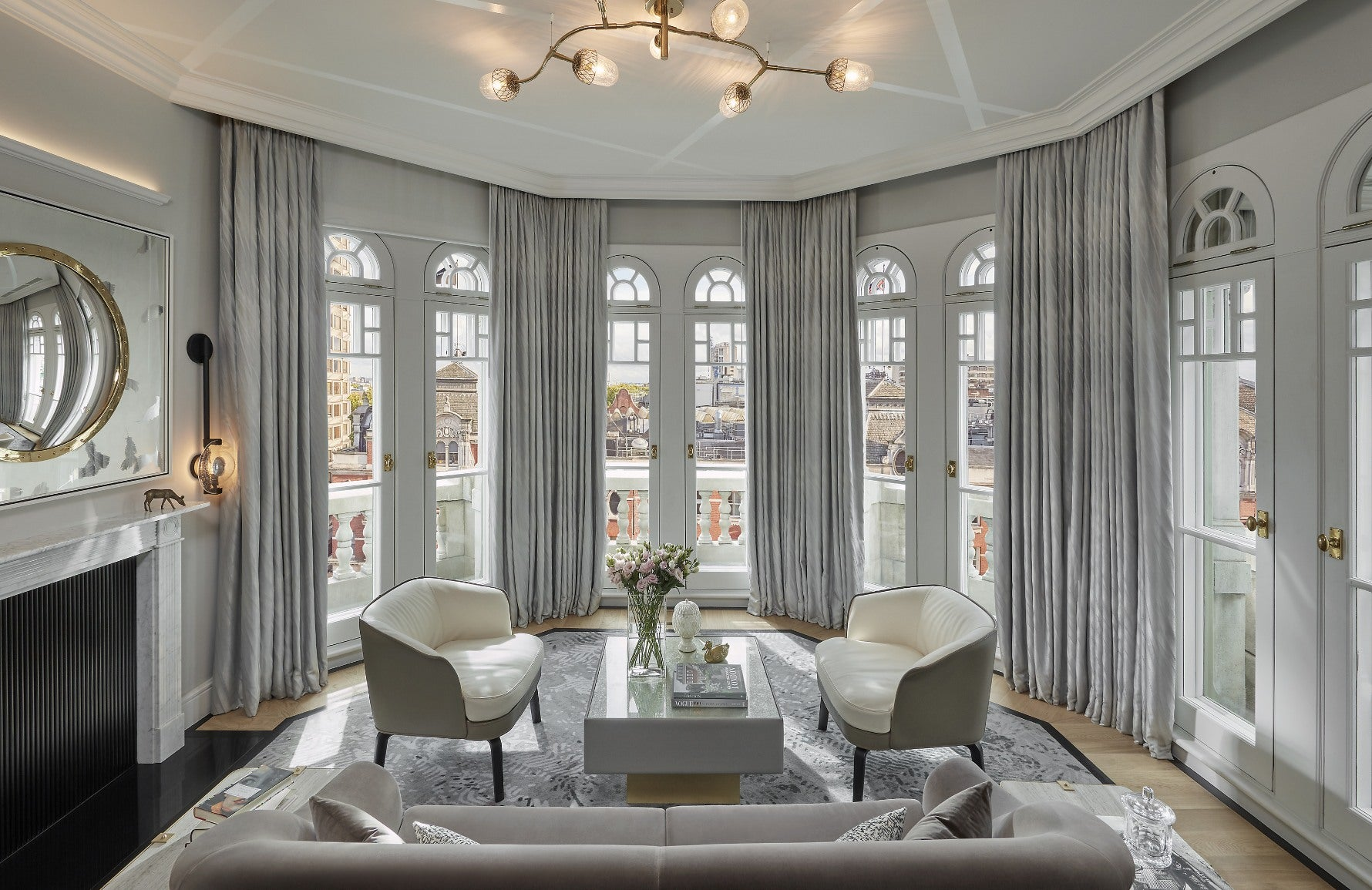 15 Grey Living Room Ideas | Grey Lounge Colour Schemes | Mandarin Oriental | Read more in the LuxDeco Style Guide
