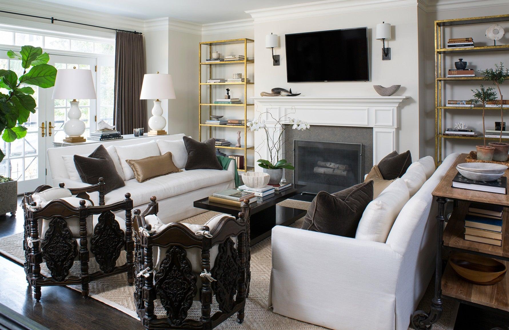 Neutral Living Room – Wendy Labrum –  LuxDeco.com Style Guide