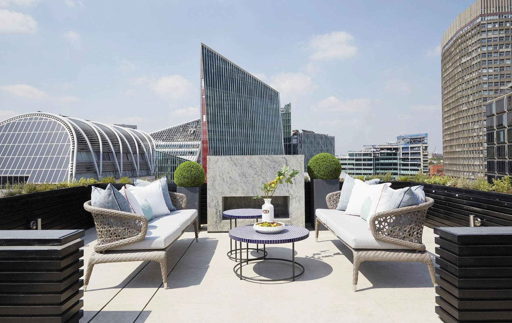 London Rooftop, Outdoor Space Ideas |A.LONDON | Read more in The Luxurist | LuxDeco.com