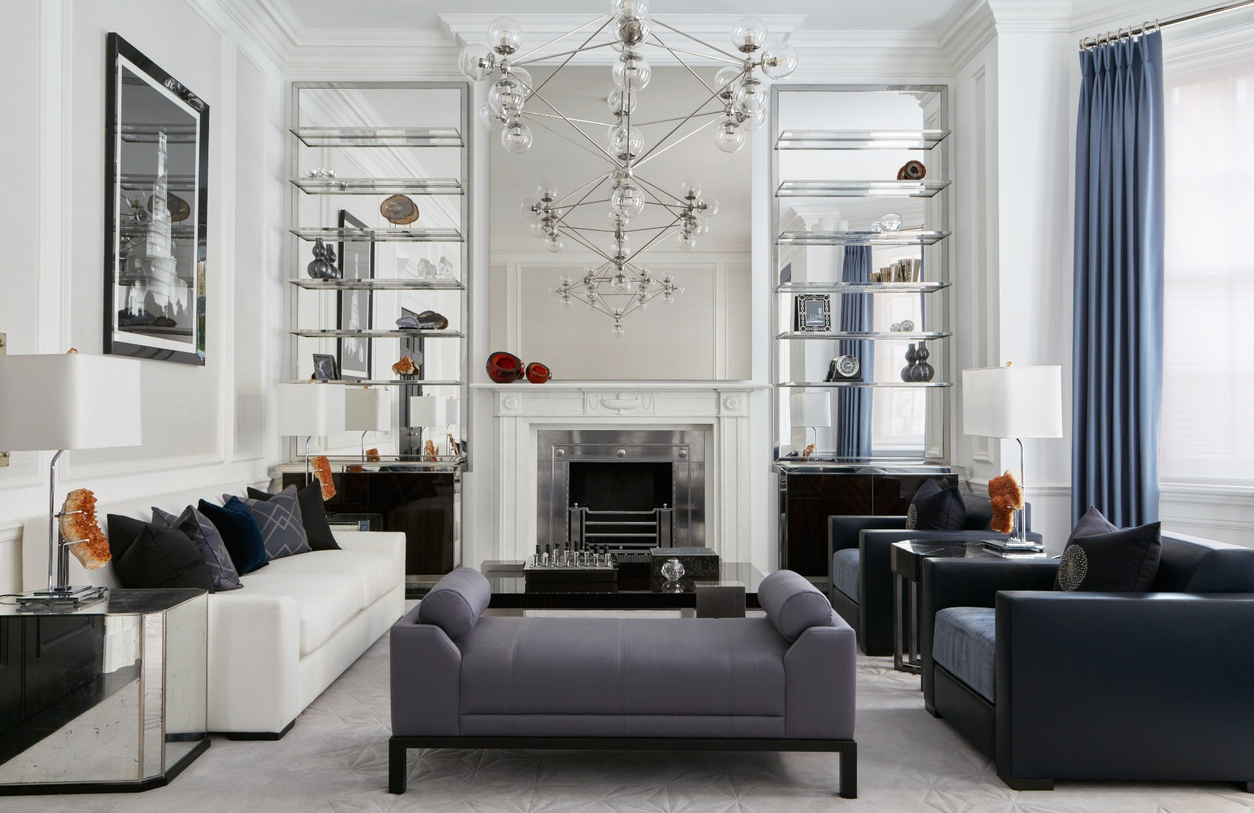 Living Room Lighting Ideas – Katherine Pooley Interiors – Read more on LuxDeco.com