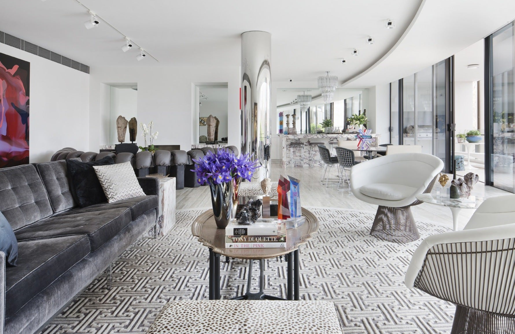 Neutral Living Rooms | David Hicks|Read more in the LuxDeco Style Guide