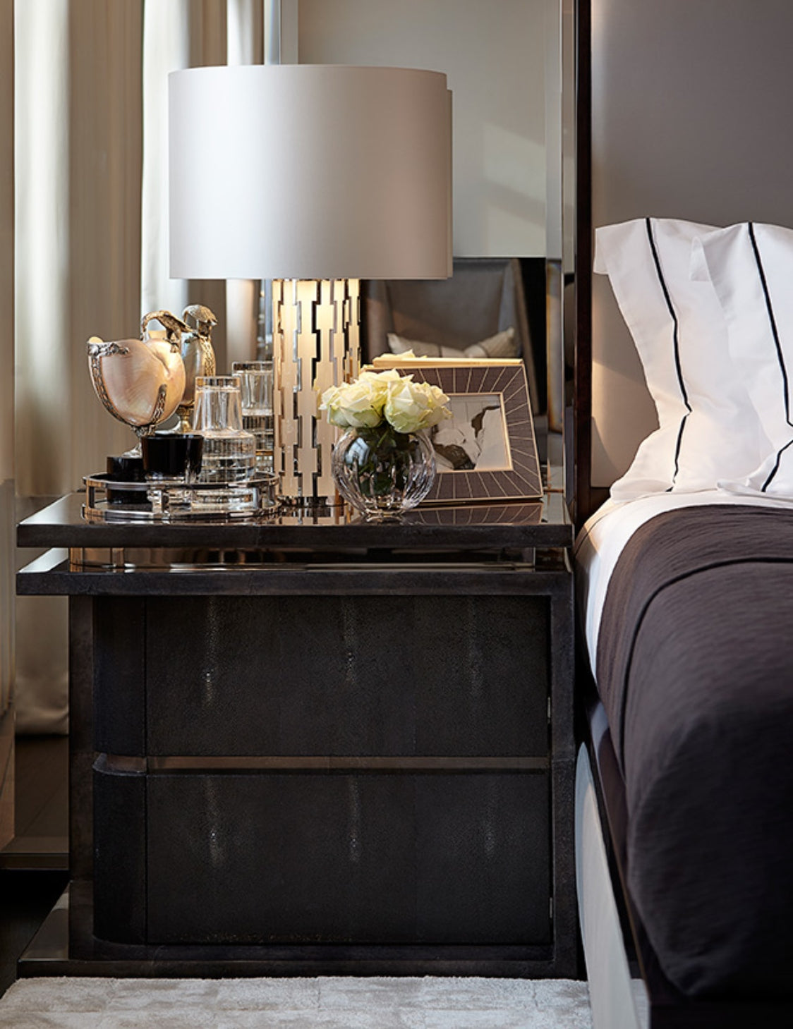 How To Style A Bedside Table - Styling Bedside Tables - Contrast and complement