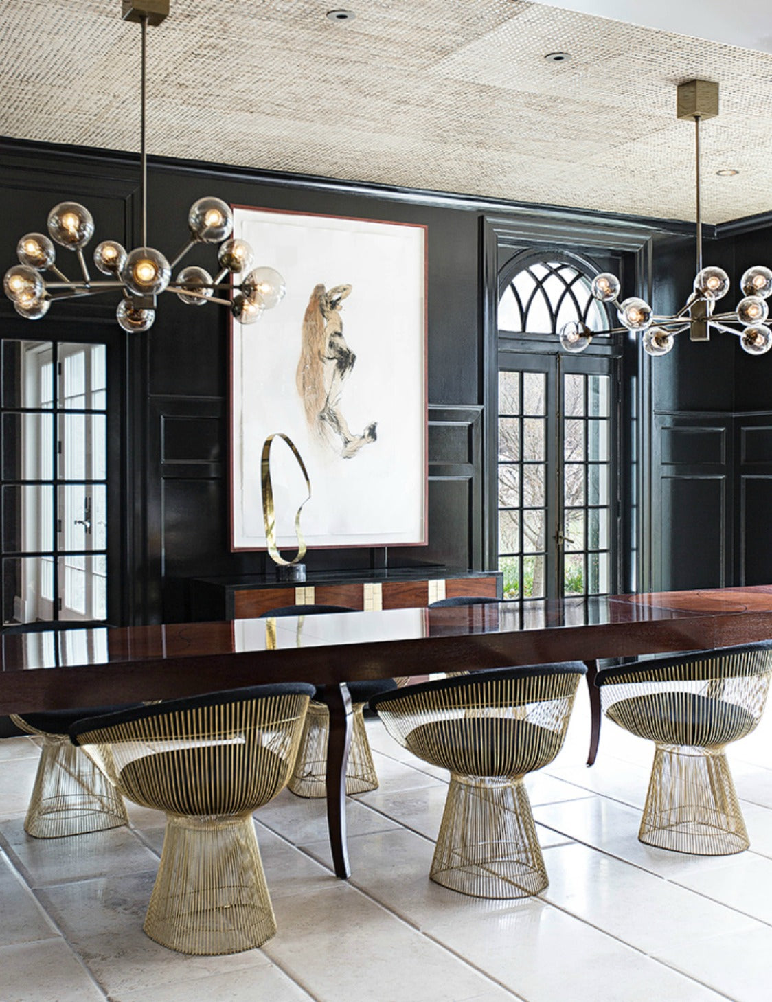 Black Dining Room – Dining Room Colour Palettes - Dining Room Colour Schemes & Colour Combination ideas – Read in the LuxDeco.com Style Guide