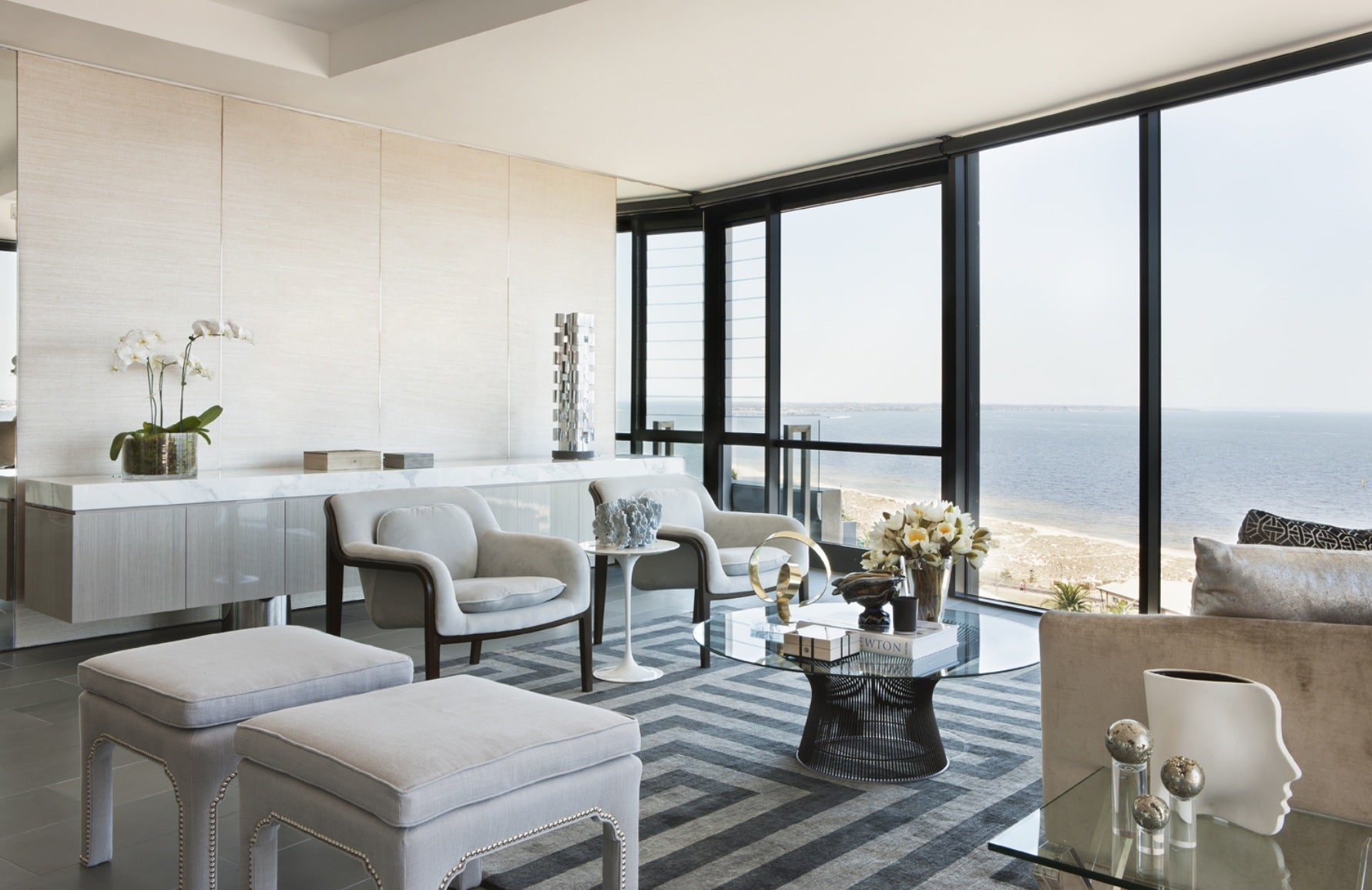 Neutral Living Rooms | David Hicks | Read more in the LuxDeco Style Guide