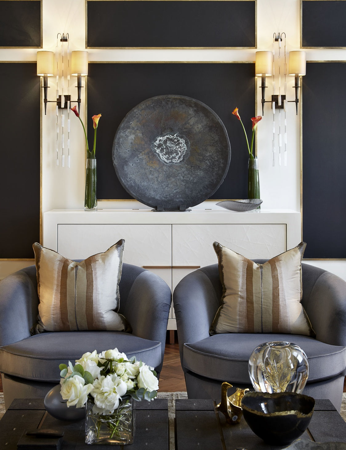 Feature Wall Ideas for your Lounge Room - Katharine Pooley - LuxDeco Style Guide
