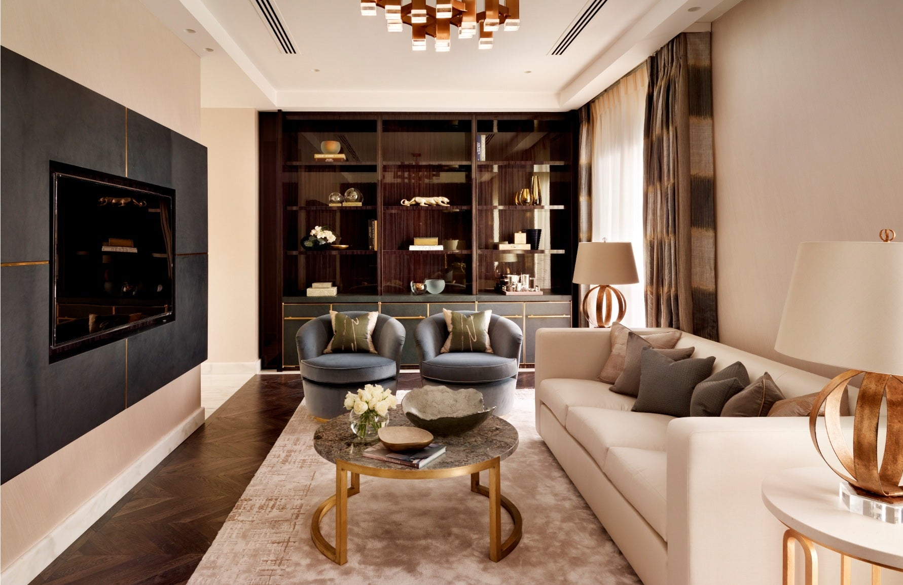 Feature Wall Ideas for your Living Room - Katharine Pooley - LuxDeco Style Guide